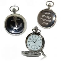 Anchor Pocket Watch Arabic Numerals Quartz